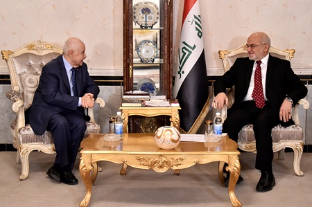 Abu-Ghazaleh Meets Iraqi Minister of Foreign Affairs, Lectures at Foreign Service Institute